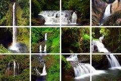Cascades à écriture ligne par ligne image stock