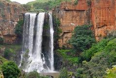 Cascades à écriture ligne par ligne Afrique du Sud de Waterval Boven Photos stock
