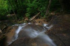 cascades à écriture ligne par ligne carpathiennes de montagnes Photographie stock libre de droits