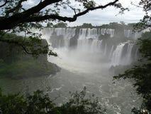Cascades à écriture ligne par ligne d'Iguazu, Argentine Photos libres de droits