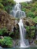 Cascades à écriture ligne par ligne dans la Réunion Photos libres de droits