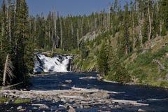 Cascades à écriture ligne par ligne dans Yellowstone Photographie stock