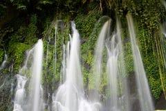 Cascades à écriture ligne par ligne de Juayua Photographie stock libre de droits