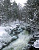 Cascades à écriture ligne par ligne de l'hiver Images stock