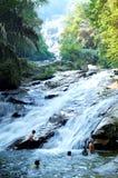 Cascades à écriture ligne par ligne de Lata Kinjang Photos libres de droits