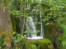 Cascades à écriture ligne par ligne des lacs Plitvice Photo libre de droits