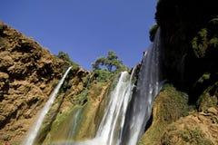 cascades à écriture ligne par ligne du Maroc Photographie stock