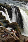 Cascades à écriture ligne par ligne en Inde photographie stock libre de droits