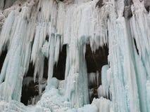 Cascades à écriture ligne par ligne figées Cascades de Chegem Russie Photos libres de droits