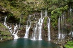 Cascades à écriture ligne par ligne, fleuve Langevin Photos stock