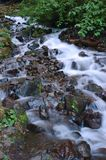 Cascades. Water descending down the plunge of a waterfall royalty free stock image
