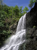 Cascades on a Bright Blue Day. Cascades waterfall in southern Virginia taken in late Summer of 2005 Royalty Free Stock Photos