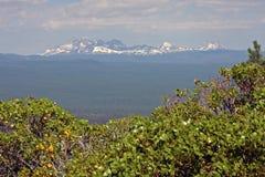 Cascades centrales de l'Orégon encadrées par Manzanita Image libre de droits