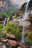 Cascades chez Zion Photo libre de droits