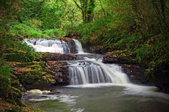 Cascades of clare glens. Mountain creek of clare glens in Ireland Stock Photos