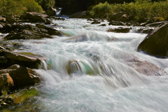 Cascades of cold water Royalty Free Stock Photography