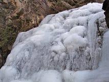 Cascades congelées au parc d'état accrochant de roche Photographie stock libre de droits