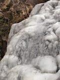 Cascades congelées au parc d'état accrochant de roche Photo libre de droits