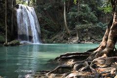 cascades à écriture ligne par ligne de la Thaïlande Image stock