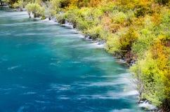 Cascades d'automne de JiuZhaiGou photographie stock libre de droits