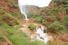 Cascades d`Ouzoud in Morocco. The Cascades d`Ouzoud waterfall in Morocco Stock Images