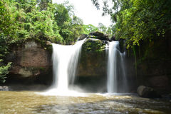 Cascades dans la jungle Photographie stock