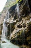 Cascades de Chegem de vue de côté Images libres de droits