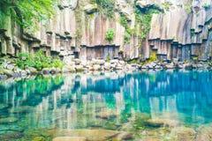 cascades de cheonjeyeon à Jeju Isaland images stock