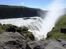 Cascades de Gullfoss, Islande Photo libre de droits