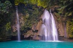 Cascades de Kawasan à Philippines Images libres de droits