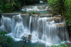 Cascades de khamin de mae de Huay photo libre de droits