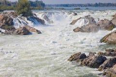 Cascades de Khon Pha Peng, Niagara de Images stock
