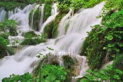 Cascades de l'eau Photographie stock