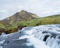 Cascades de la rivière de Skoga, Islande Image stock