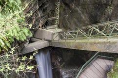 Cascades de lac de Bellano photos libres de droits