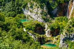 Cascades de lacs Plitvice, Croatie Image libre de droits