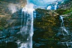 Cascades de LUSHAN Photos libres de droits