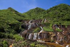 Cascades de mine d'or de Taïwan image libre de droits