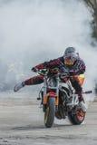 Cascades de moto, exposition dans MTS Szczecin Photographie stock libre de droits