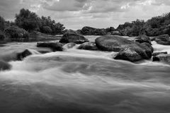 Cascades de rivière Photos stock
