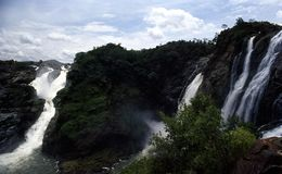 Cascades de Sivanasamudra/automnes de Cauvery Photographie stock