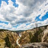 Cascades de Yellowstone Photographie stock