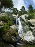 The Cascade des Anglais waterfall royalty free stock photography