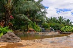 Cascades en pierre de l'eau Images libres de droits