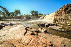 Cascades en Sioux Falls, le Dakota du Sud, Etats-Unis Images libres de droits