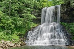 The Cascades Falls, Giles County, Virginia, USA - 3. The Cascades Falls is located in Jefferson National Forest, Giles County, Virginia, USA. The springtime view stock photos