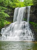 The Cascades Falls, Giles County, Virginia, USA - 2. The Cascades Falls is located in Jefferson National Forest, Giles County, Virginia, USA. The springtime view stock photo