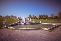 Cascades fontaine, jardin de belvédère à Vienne, Autriche photos stock