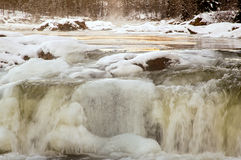Cascades on a Frozen River Royalty Free Stock Image
