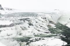 Cascades of Gullfoss, Iceland royalty free stock images